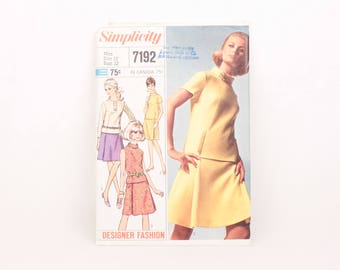 1960s Simplicity 7192 // misses' two piece dress
