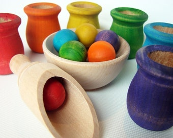 Colored Cups and Balls