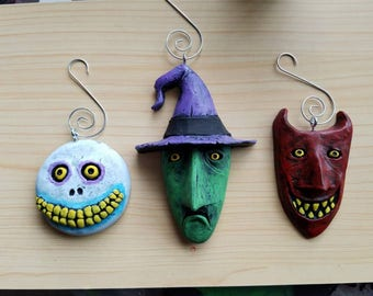 Set of three: Lock, Shock and Barrel Ornaments