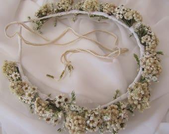 Hair crown real flowers