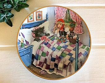 Kaiser Germany, Fairy Tale Plate, Red Riding Hood, Big Bad Wolf, Riding Hood Plate, Kaiser Collector, Germany Fairy Tale, Kaiser Red Riding
