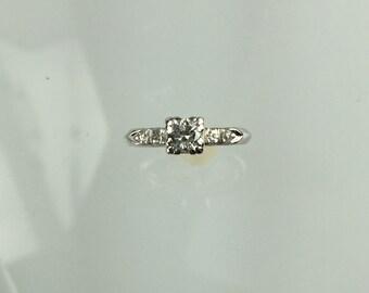 Vintage 1930's platinum diamond engagement ring .33ct