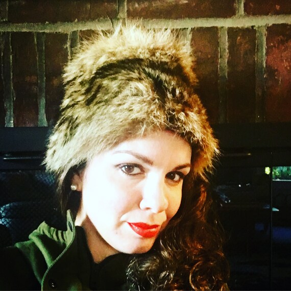 Vintage 1950s Women's Winter Fur Hat