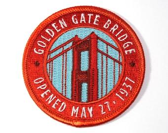 Official Golden Gate Bridge Souvenir Iron-on Patch San Francisco California National Park Scrapbooking FREE SHIPPING