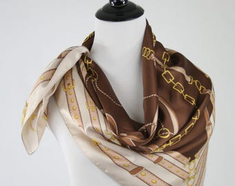 1980s Harness and Chains Large Square Scarf