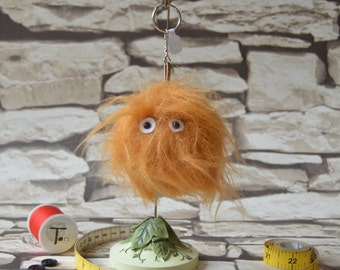 Fred the Mini Monster fur keyring