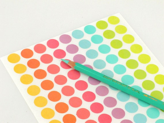 36 sheets Polka Dots circle sticker Different Color Dot Stickers  Autocollants Round Sticker 35mm Big size