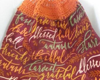 "Crochet Kitchen Towel ""Fall/Thanksgiving"" ~ ** Gift Idea"