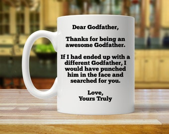 gift for godfather, personalized godfather gift, custom godfather mug, funny gifts for godfather,godfather gift, birthday gift for godfather