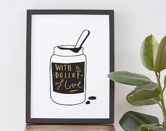 A4 Dollop of Love Print - Mother's Day print
