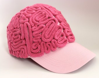 Brain Hat - Pretty in Pink Brains Baseball Cap - READY TO SHIP