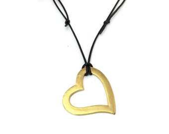 PURE heart gold necklace
