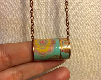 Copper Jewelry - Pastels - Up Cycled Copper Pipe Pendant Necklace -Industrial Chic- Copper Chain