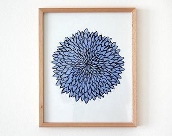 Original floral flower chrysanthemum Blue gift