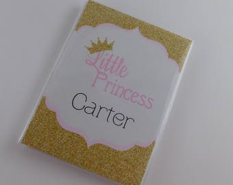 Girl Photo Album Baby Princess Gold Crown Birthday Baby Shower Gift 4x6 or 5x7 Pictures 796