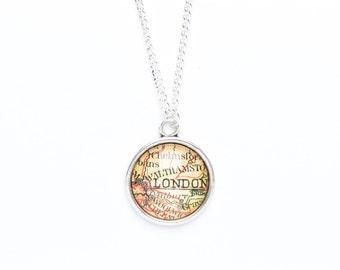 London Necklace | London Map Jewellery | London Jewellery | Travel Jewellery | Wanderlust