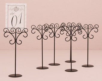 Wedding Table Number Stands, Party Sign Holders, Event Table Number Holders, Metal Stands for Parties, Metal Sign Holders, Party Sign Holder