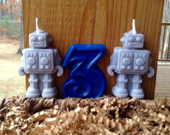 Robot Birthday Candles 7.00
