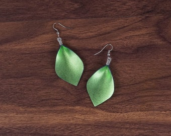 Leather Leaf Earrings Leather Earrings D