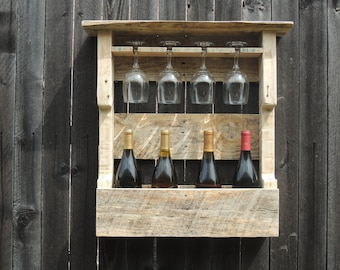 Rustic Wine Rack (Reclaimed Wood)