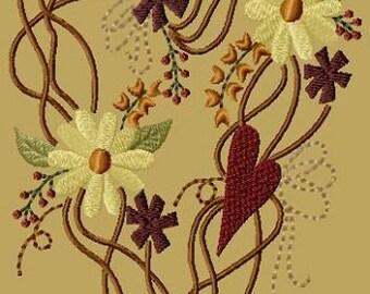 Prim Summer Wreath- Version 1 - 5x7--INSTANT DOWNLOAD