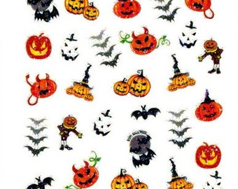 Halloween Collection #4 Scrapbooking Stickers/ Nail Decals