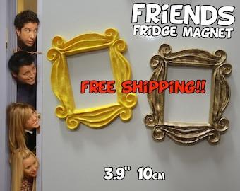 """FRIENDS tv show frame FRIDGE MAGNET (3.9"""", 10cm) friends frame friends peephole frame door frame marco friends series tv adorno navidad"""