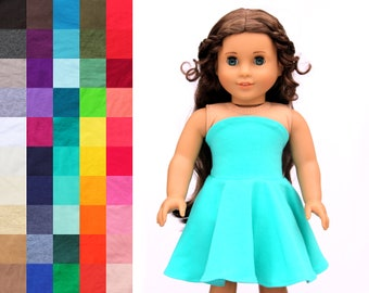 Fits like American Girl Doll Clothes - Simply Summer Bandeau Dress, You Choose Color | 18 Inch Doll Clothes