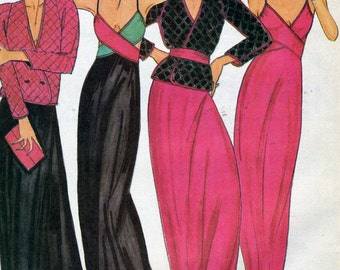 Vintage 70s/80s Butterick 6858 UNCUT Misses Reversible Jacket and Criss Cross Nightgown Sewing Pattern by John Kloss