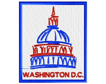 Washington D.C.  Embroidered Patch