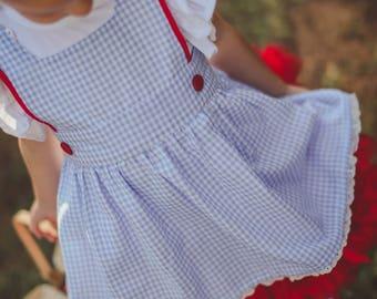 Dorothy Pinafore/ Apron custom sizes available