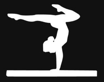 Gymnastic car decal