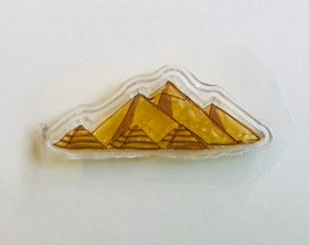 New -for Rubber Stamping Scrapbooking & Handmade Cards 1 Clear acrylic Stamp -- Pyramids