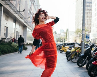 Red dress, long red dresses, cute dress, dresses for women, elegant dresses, midi red dress ,party red dress, unique dress, casual red dress