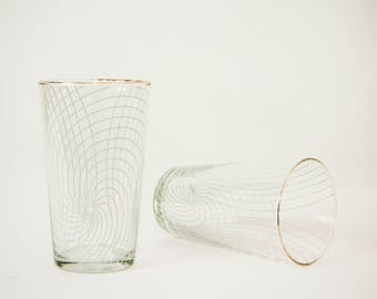 Pair of glasses with whirl pattern