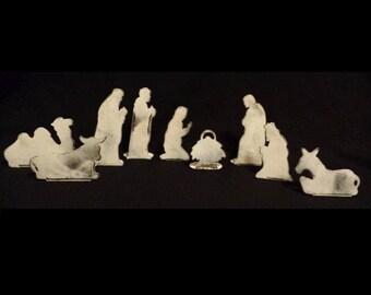 Nativity Set - (White Patina Steel)