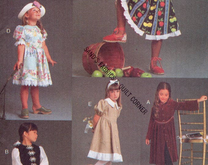 FREE US SHIP Vogue For Me 9135 Flower Girls Dress 1994 Collar Variations Size 2 3 4  Old Store Stock Sewing Pattern
