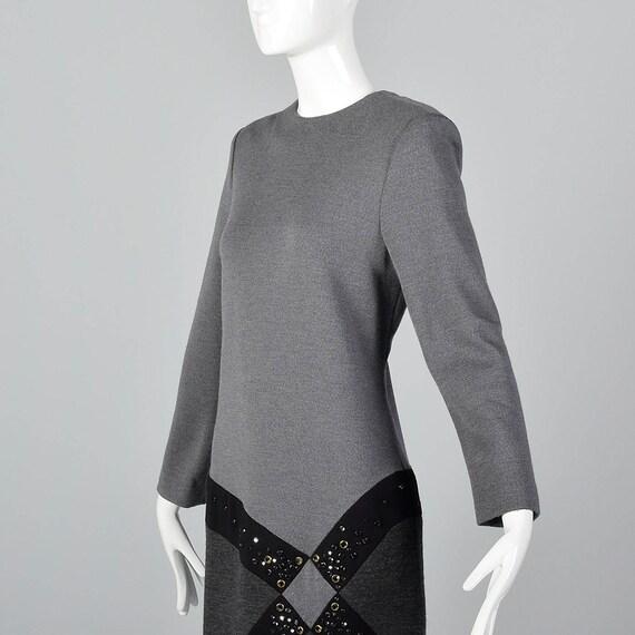Asymmetric Winter Dress Bob 1980s Sexy Long Knit Dress Sleeve Mackie Dress gtIwqzf