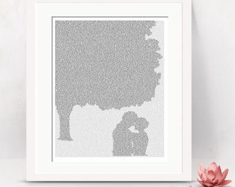 Jane Eyre Print, Jane and Rochester Chestnut Tree, Literary Poster, Romantic Wall Art, Typography Print (US)