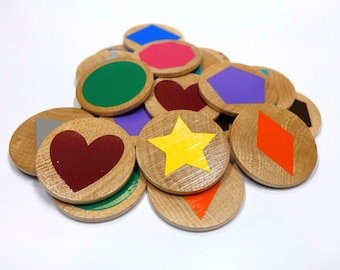 Easter Basket Stuffer, Magnetic Memory Game, Shape Memory Game, Matching Game, Wooden Match Game, Montessori Learning Toy, Make a Match