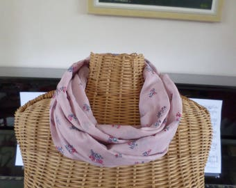 tube scarf, silk and cotton voile