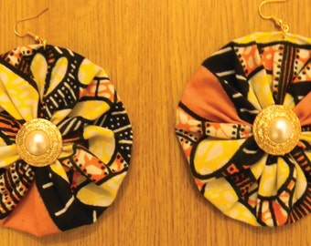 Handmade African Print Earrings