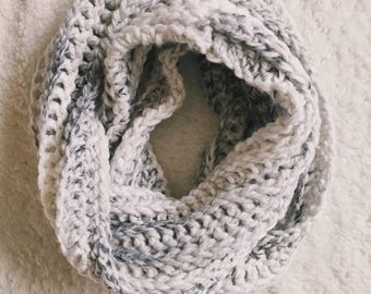 READY TO SHIP X Zero Below Infinity Scarf X Chunky Scarf X Crochet Scarf