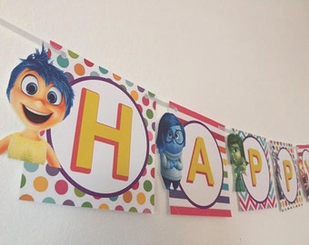 Inside Out Birthday Banner , Inside Out Decor  , Inside Out Party