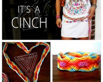 Mexican Macrame  Belt