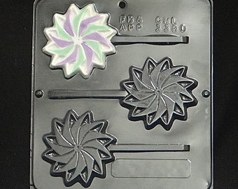 Pinwheel Lollipop Chocolate Candy Mold 3380