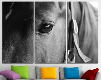 Large Horse Canvas Print Multi Panel Horse Wall Art Horse Canvas Art Horse Home Decor Horse Poster Horse Print Horse Photo Wall Art Sunset