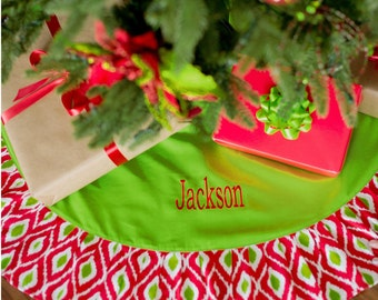 Christmas Tree Skirt, Personalized Christmas Tree Skirt, FREE  Personalization, Monogrammed Tree Skirt,