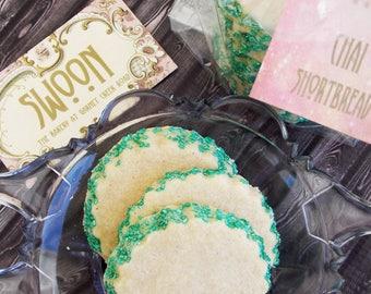 Chai Shortbread Cookie Gift Box ~ Tea Cookies ~ Scottish Shortbread