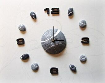 Orologio da parete grande moderno per ufficio Regali per lui Arte da parete effetto pietra Orologio particolare Regalo per architetto